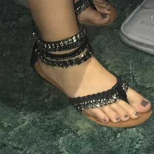 Zigi Soho Shoes - Gladiator Diamond & Chain Sandals